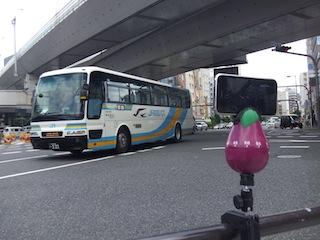 交差点での撮影風景