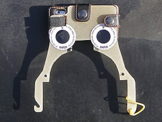 iPod nanoがハルのすぐ上に位置するように装着するシステム