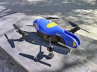 完成した仮想ポリス仕様のAR.Drone