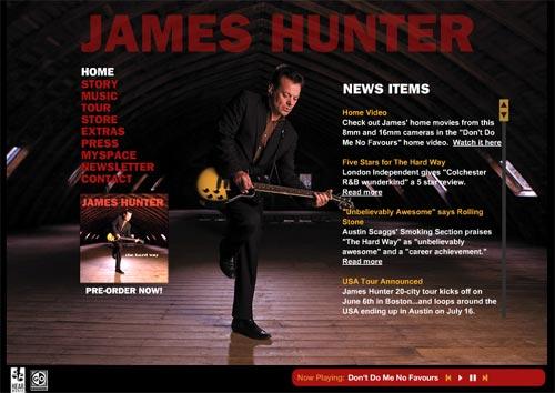 ジェームズ・ハンターの公式サイト